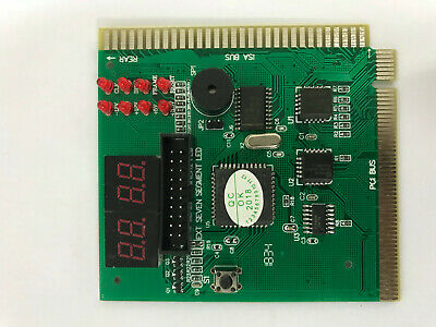 4-Digit PC Computer Motherboard Analyzer Tester Diagnostic PC PCI ISA LCD Displa