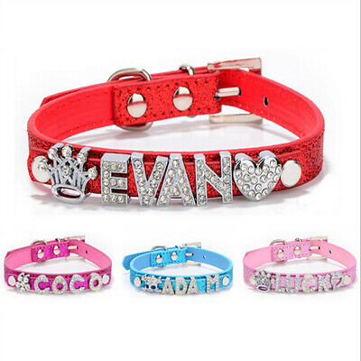 Croc Dog/Cat Pet Collar Personalized Pu Leather With Free Rhinestone Name