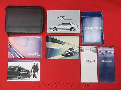 2001 Saab 95 Owners Manual with Case