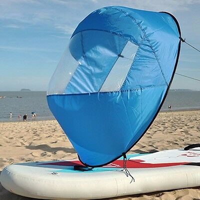 "42"" Downwind Wind Paddle Popup Board Kayak Sail Wind Sail Accessories Fold Up"