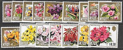 Niue Sg527/42 1984  Flowers Fine Used