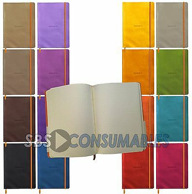 Rhodia 'Rhodiarama' Soft Cover A5 Notebook. 80 Pages 90gsm Ivory Paper Dot Grid