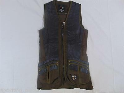 Top Gun Shooting Vest Ambidextrous Green Right Left Handed Shotgun Clay Pigeon