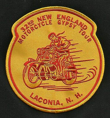 VINTAGE 1950s REPRO 32nd NEW ENGLAND MOTORCYCLE GYPSY TOUR LACONIA BIKER PATCH