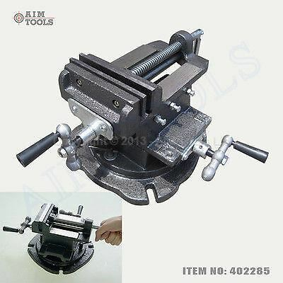 """402285 5"""" Mechanical Swivel Base Cross Multi Direction Milling Bench Vice Clamp"""