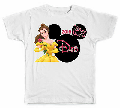 Personalized Disney Vacation Mickey Head Belle from Beauty and Beast T-Shirt