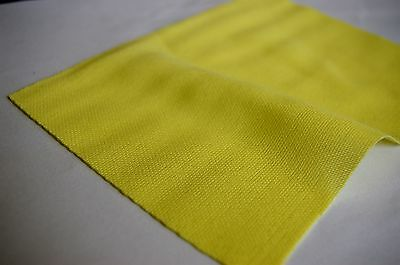 HIGH QUALITY LEMON YELLOW SPEAKER FABRIC / CLOTH / GRILLS - 1m x 850mm VINTAGE