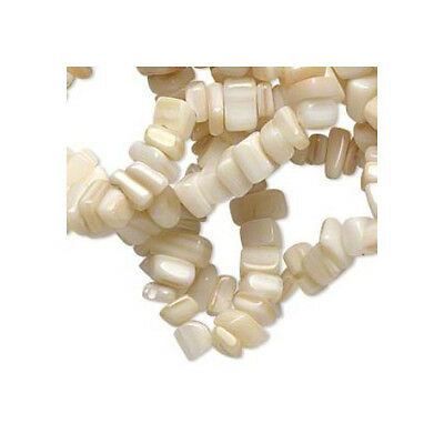 Long Strand of 270+ White Mother Of Pearl Approx 5-8mm Chip Beads FM5294