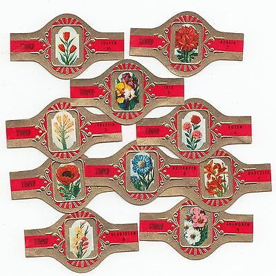 10 cigar bands Stompkop Flowers  iss in 1968