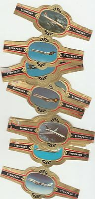 24 cigar bands Stompkop Airplanes  iss in 1973