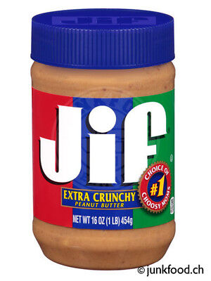 Jif Extra Crunchy Peanut Butter (454g) US-Import!