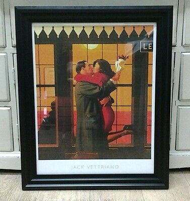 Back Where You Belong by Jack Vettriano Large Deluxe Framed Art Print Romantic