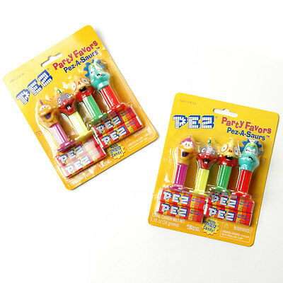 Pez Party Favors Pez-A-Saurs Mini Dinosaur Pez Dispensers New Sealed 2 Packages