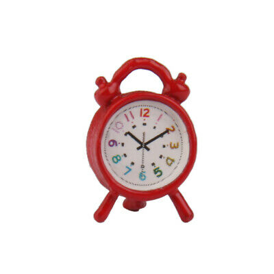 Dolls House Miniature Accessory Antique Vintage Metal Alarm Clock Old Fashioned
