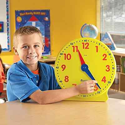 Learning Resources Big Time Learning Clock (12 Hr) Kids Toys Hobbies Educational