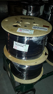 1,000 feet - Belden 1694A - RG6 HD-SDI Coax Cable - BLACK - OVERSTOCK SPECIAL