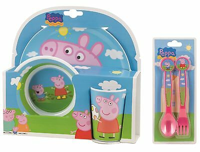 Peppa Pig | George | Muddy Puddles 5pc Tumbler, Bowl, Plate Set & Cutlery