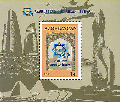 Azerbaijan 2016 MNH Union of Architects of Azerbaijan 80th Anniv 1v S/S Stamps