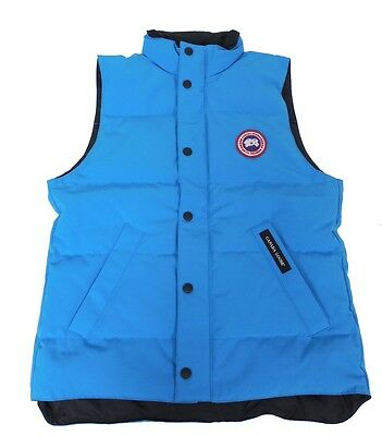 Canada Goose Youth Vanier Vest in Blue Topaz 4129Y New & Authentic Down Fill