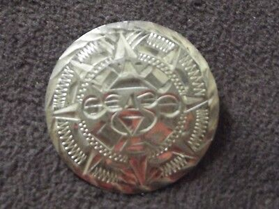 Mexican Sterling Silver Sun God Pin / Brooch / Pendant