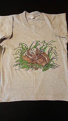 Vintage 80s Kids Boys Youth 10-12 Screen Stars T-Shirt Animal Deer Dog