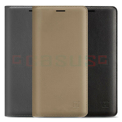 OnePlus 3 Three Flip Leather Smart Wallet Card Holder Stand Case Cover