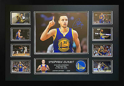 Stephen Curry Golden State Warriors Signed Limited Edition Framed Memorabilia