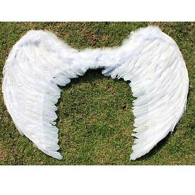 Angel Wings Fancy Dress Fairy Feather Costume Outfit Large Adult Party Hen UK
