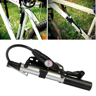 Mini High Pressure Bike Bicycle Cycling Hand Air Pump Inflator Fr Tyre Tire Ball