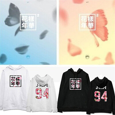 KPOP BTS Cap Hoodie In Bloom Sweatershirt Bangtan Boys Sweater Pullover Coat