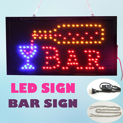 Animated LED BAR open Neon Light Business Open Sign with On/Off Motion Switch