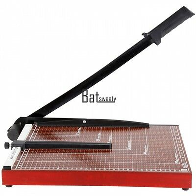 """PAPER CUTTER 15 x 12"""" inch METAL BASE TRIMMER Scrap booking Guillotine Blade New"""