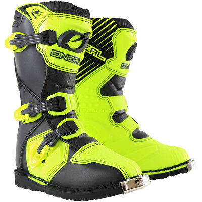 Oneal NEW 2018 Kids Mx Rider Dirt Bike CHEAP Hi Viz Yellow Youth Motocross Boots