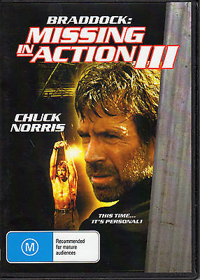 Missing In Action 3  Chuck Norris Rare All Region Dvd