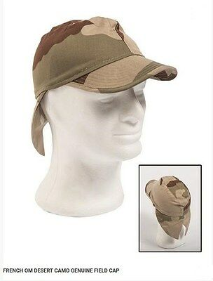 French Army F2 CCE Camo OM Field Bigeard Cap military swallowtail neck flap hat