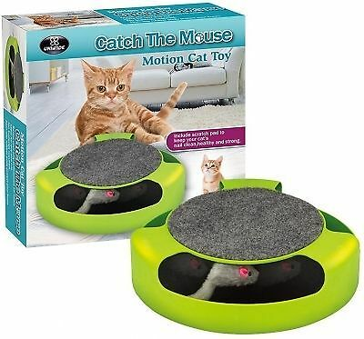 Motion Chase Kitten Cat Toy Catch The Mouse Interactive Cat Training Scratchpad