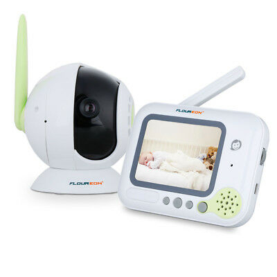 Floureon Digital Baby Monitor 3.5'' Color LCD Screen 2.4 GHz Wireless Video