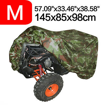 190T WaterProof Dust Quad Bike Tractor ATV Cover For Yamaha Breathable M Camo