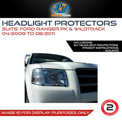HEADLIGHT PROTECTOR TO SUIT FORD RANGER PK & Wildtrack Apr 2009-Aug 2011