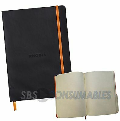 Rhodia 'Rhodiarama' Soft Cover Notebook. 160 Page 90gsm Paper Dot Grid 117552C