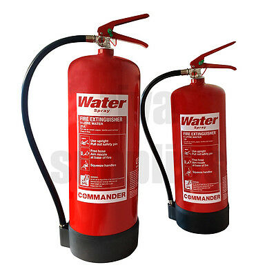 6 9 Litre WATER FIRE EXTINGUISHER For Warehouse Office Work Home Factory Use