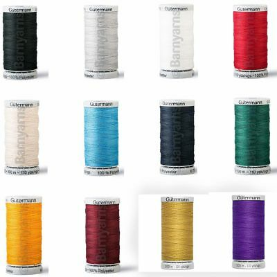 Gutermann Extra Strong Thread Upholstery & Sewing Full Colour Range 100m Reels