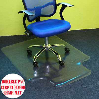 1200 x 900mm Hard Floor Home Office Work 1.5mm Thick Chair Mat Vinyl Protector
