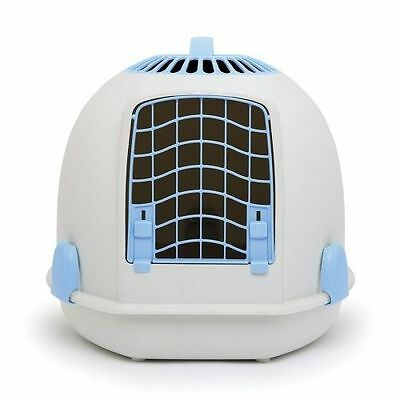 IGLOO PETS UNIQUE IGLOO 2 IN 1 CAT LOO & CARRIER ARCTIC BLUE litter tray travel