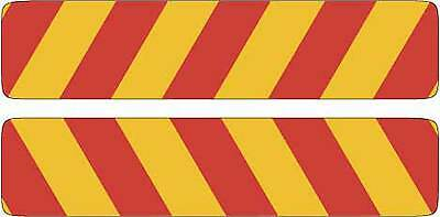 Candy Stripe Traffic Sign Safety Truck Reflective 600x150mm Two Piece Adhesive