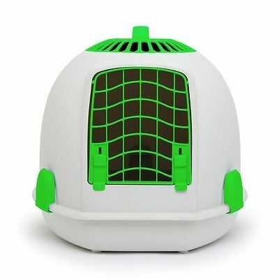 IGLOO PETS UNIQUE IGLOO 2 IN 1 CAT LOO & CARRIER AURORA GREEN litter tray travel