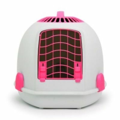 IGLOO PETS UNIQUE IGLOO 2 IN 1 CAT LOO & CARRIER PERSIAN PINK litter tray travel