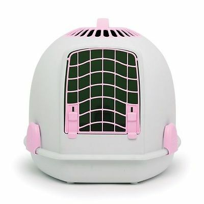 IGLOO PETS UNIQUE IGLOO 2 IN 1 CAT LOO & CARRIER POLAR PINK litter tray travel