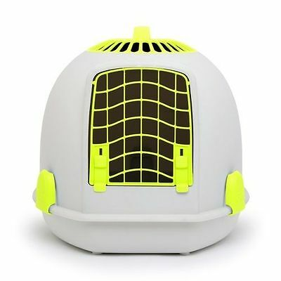 IGLOO PETS UNIQUE IGLOO 2 IN 1 CAT LOO & CARRIER SUNRISE YELLOW litter tray