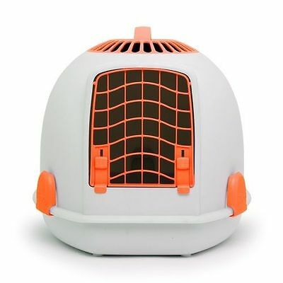 IGLOO PETS UNIQUE IGLOO 2 IN 1 CAT LOO & CARRIER SUNSET ORANGE litter tray
